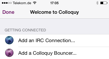 Add an IRC connection
