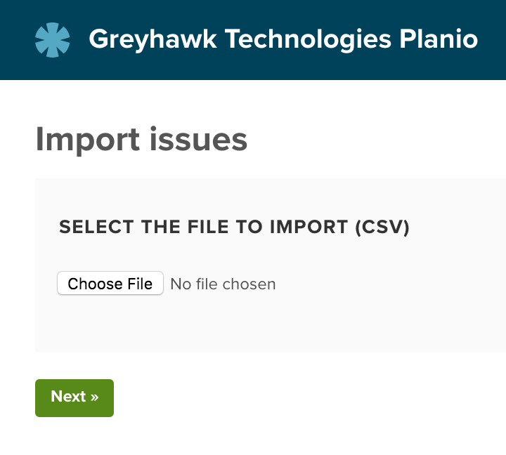 Upload the CSV file using the file picker
