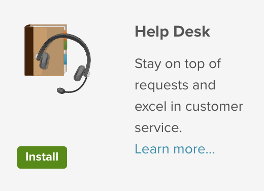 Install The Help Desk